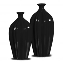 Vasos Decorativos Gomo black 35x14 - 29x16cm