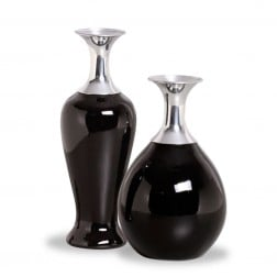Vasos Decorativos Lirio Black 30x10 - 24x13