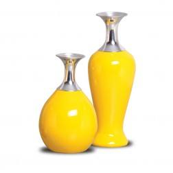 Vasos Decorativos Lirio yellow 30x10 - 24x13 cm